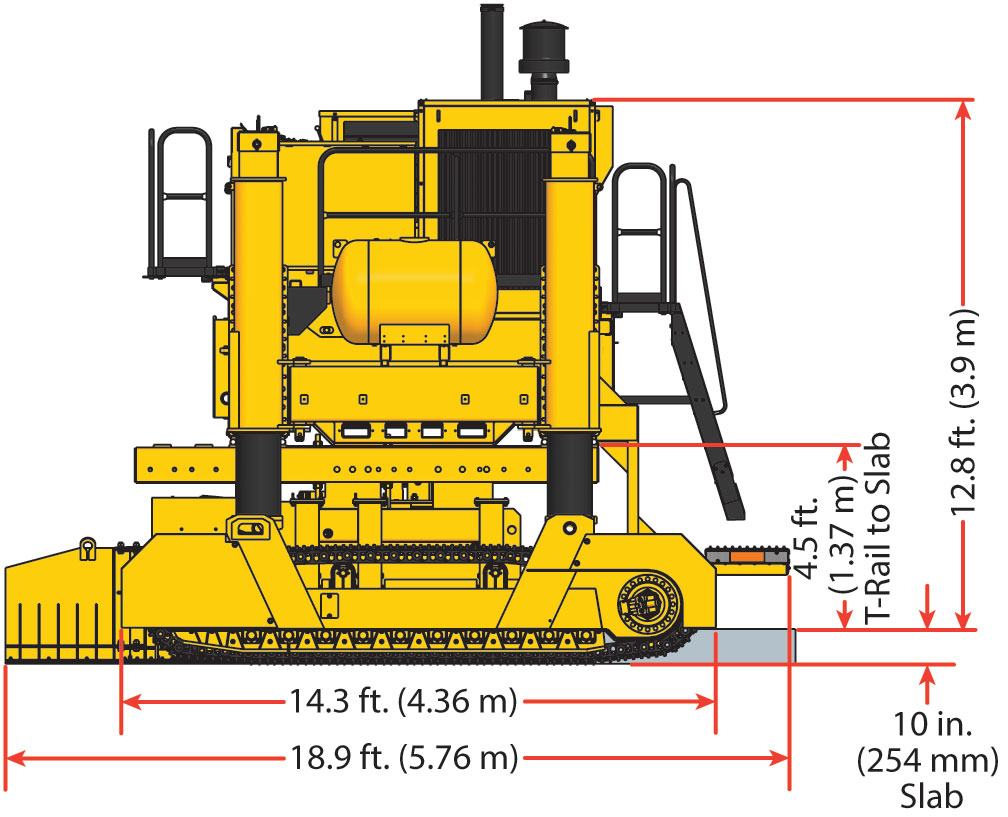 Gomaco Manufacturer Of Concrete Slipform Paving Equipment Gp 4000 5 Tire Rotation Diagram Four Track