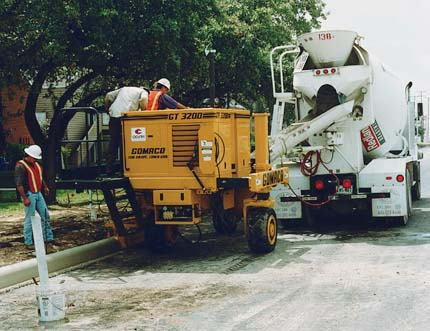 small curb and gutter machine