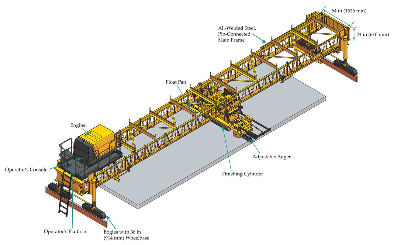bidwell concrete paving machine